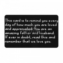 Wallet note card - This card is to remind