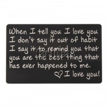 Wallet note card - When I Tell You