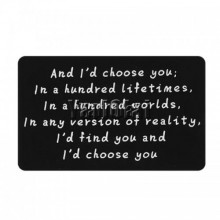 Wallet note card - i would choose you