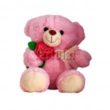 Pink Teddy With Rose