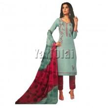 Cotton Salwar With Shole Pista Green