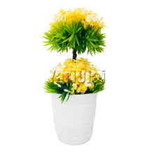 Artificial Flower Vase - Yellow