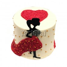 Lady In The Red Dress Cake