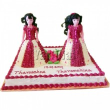 Twins Doll Cake