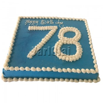 Rectangle Cake With Number