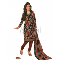 Red & Black Salwar  Matterial  2430