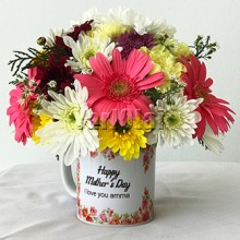 Mixed Flowers With Mug