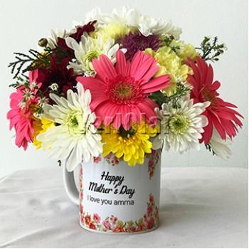 Mixed Flowers With Mug