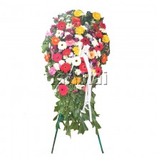 Funeral Wreath with mix flower Gerberas