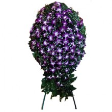 Purple Orchid Funeral Wreath