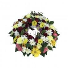 Mix Colour Circle Wreath