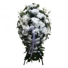 White Chrysanthemums Wreath