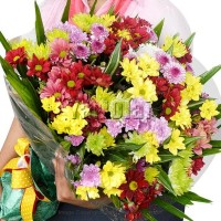 Colourful Chrysanthemum Bouquet