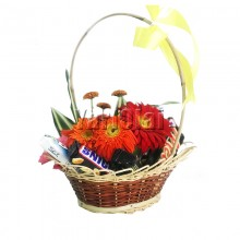Mini Chocolate Flower Basket