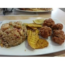 Fried Rice Boneles Chicken