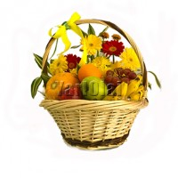Fruit Basket with Flower