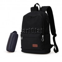 Canvas Back Bag With Case