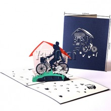 3D POP UP Father's Day Bicycle Card
