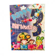 3rd Happy Birthday Card GGC700