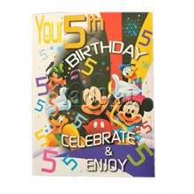 5th Birthday Card GGC730