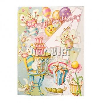 4th Birthday Card GGC760