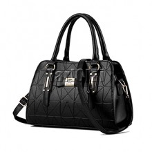Real Soft Pu Leather Handbag - Black