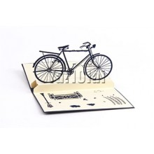 3D POP UP Bicycle Card