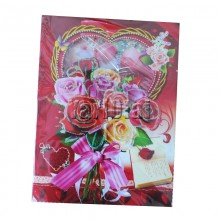Rose Music Card
