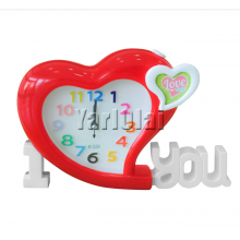 I Love You Heart  Clock - Red