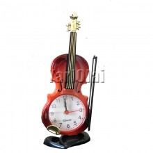 Art Violin Table Clock