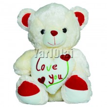 I Love You White Heart Teddy Large