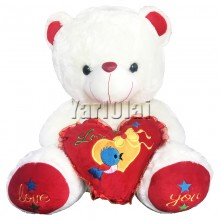 Large Teddy With Love Heart SFT610