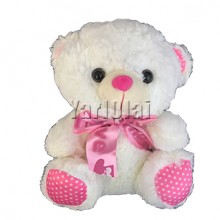 White Teddy with Bow SFT620