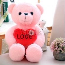 Large Love Heart Pink Teddy
