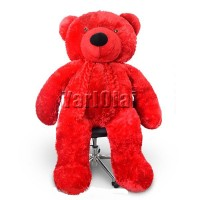 Life Size Teddy (Red) - 5 ft