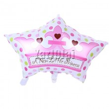 Crown Cap Balloon - Pink