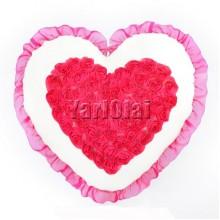 Rose Heart Pillow
