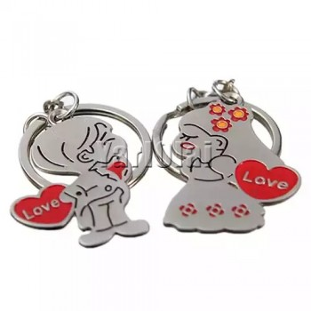 1 Pair Couple Lover Gift Key Rings