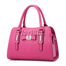 Real Soft Pu Leather Handbag - Magenta
