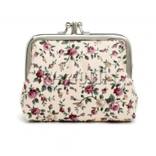 Canvas Women Coin Purse Small -Flower 01