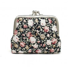 Canvas Women Coin Purse Small -Flower 02