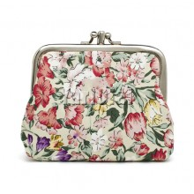 Canvas Women Coin Purse Small -Flower 03