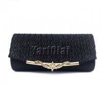 Glitter Chain Shoulder Handbag - Black