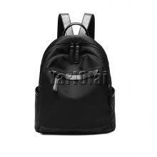PU Leather Women Backpack - Black