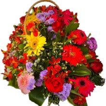 Basket of  Mixed Flower Arrangement