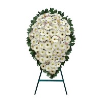 Funeral Wreath with white flowers