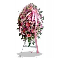 Pink Shades Funeral Wreath