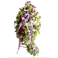 Purple Shades Funeral Wreath