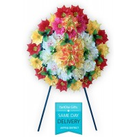 Mixed Colour Flower wreath (Artificial)
