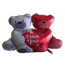 Couple Teddy Bear Foil Balloon